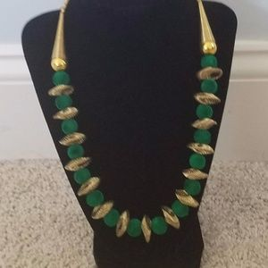 Jewelry - Beautiful bold necklace with fabric balls.